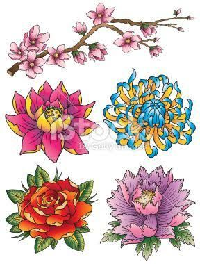 288x380 Japanese Flower Tattoo