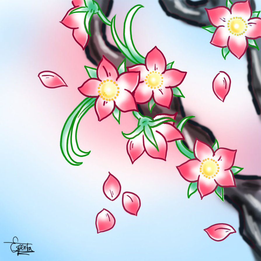894x894 Japanese Flower Drawing Styles