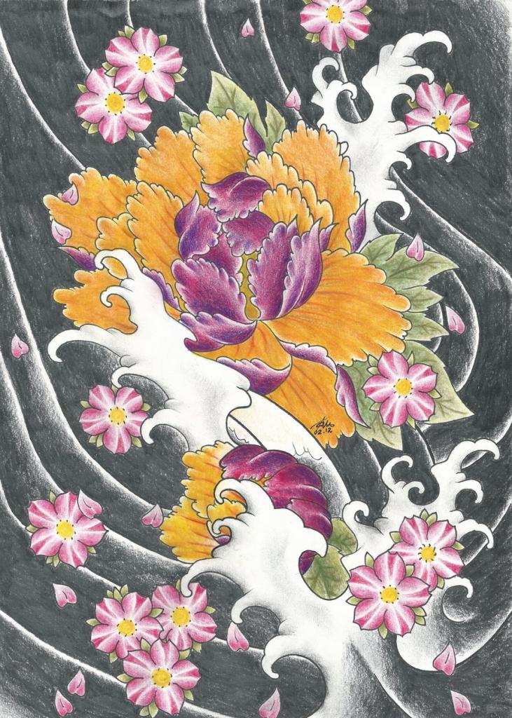 731x1024 Japanese Flower Drawing Styles Japanese Flowerspurpleriot