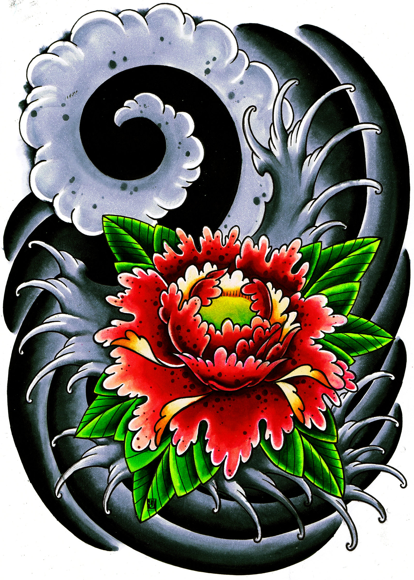 1600x2244 Japanese Flower Thingy By On @