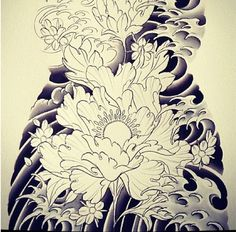 236x232 Japanese Wave Drawing Traditional Japanese Tattoo. By