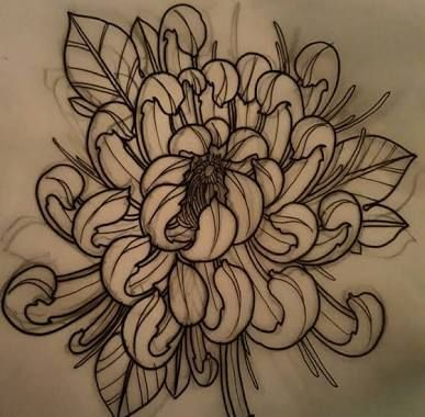 387x380 Image Result For Japanese Flower Tattoo Hoa Cuc