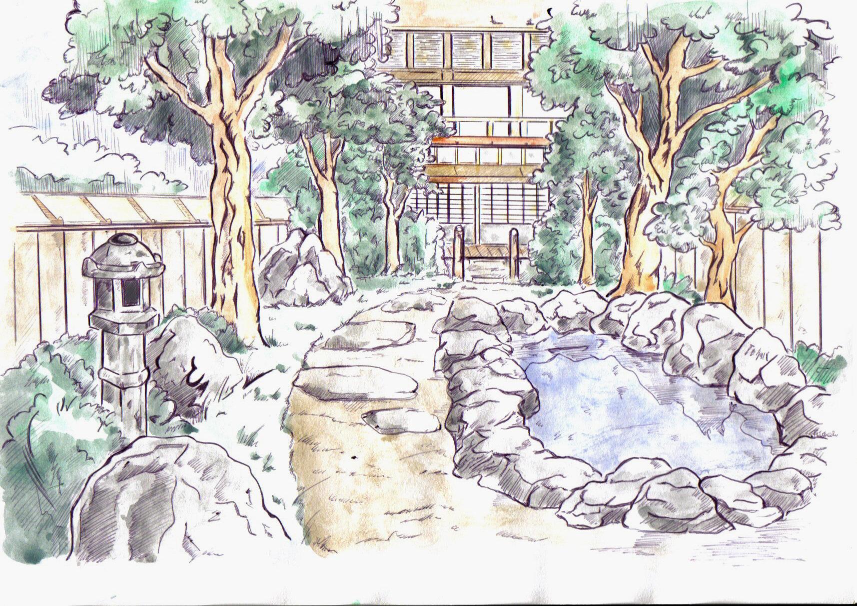 1715x1212 Japanese Garden By Asasel Chan On DeviantArt