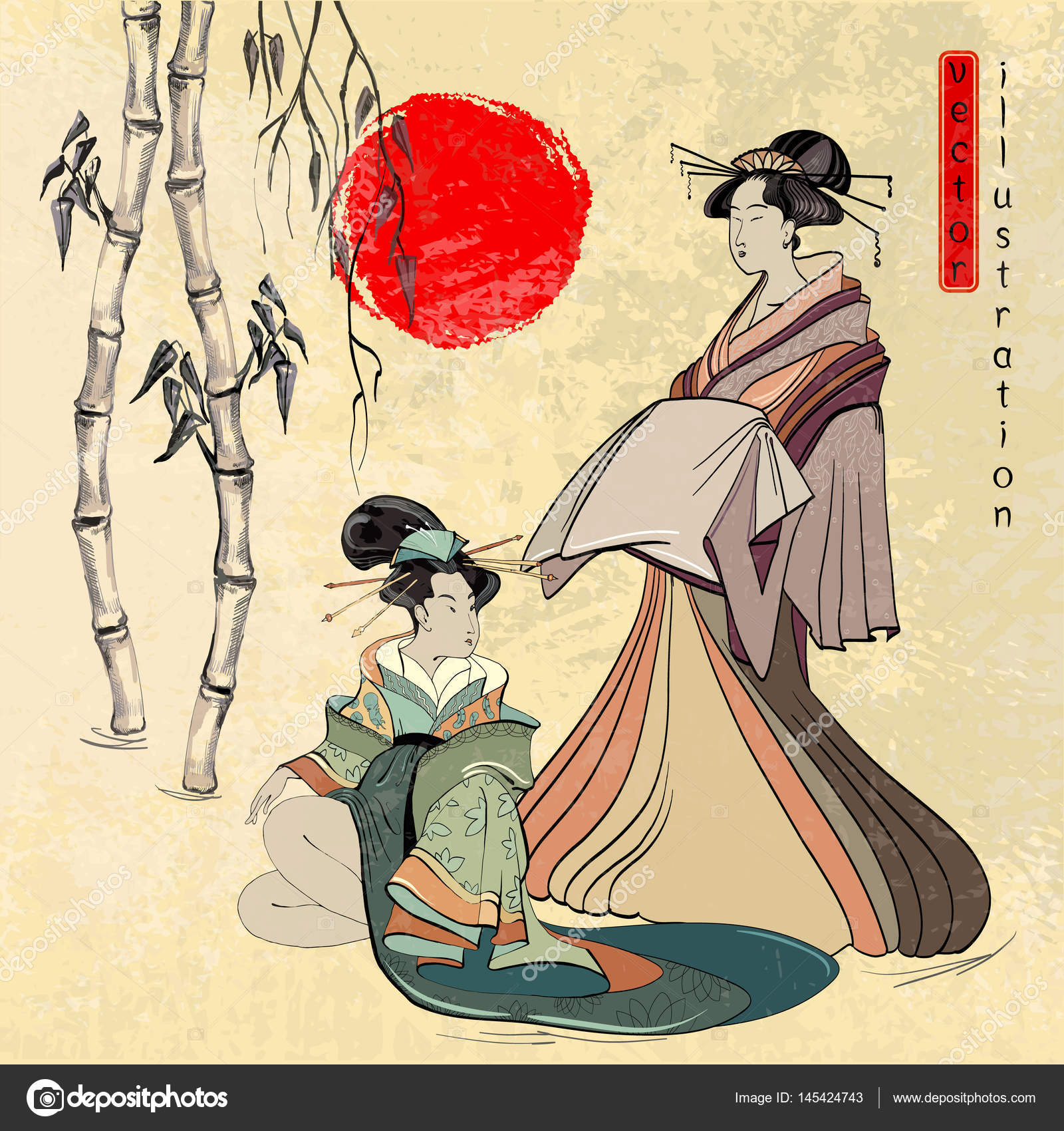 Japanese Geisha Drawing at GetDrawings.com | Free for personal use ...
