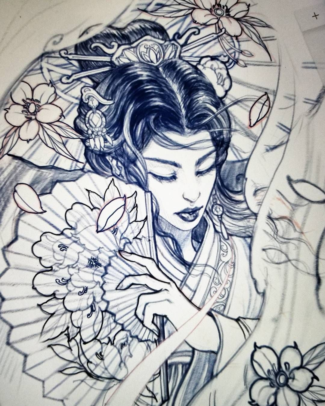 1080x1350 Pin By Jakub Techman On Tattoos Irezumi, Geisha