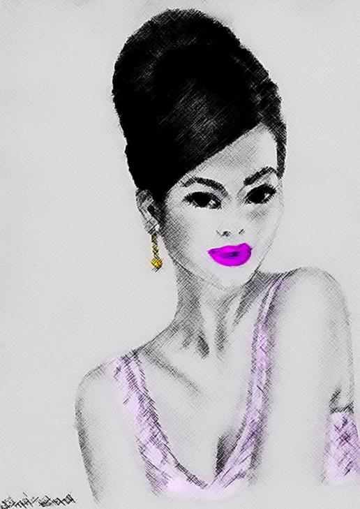 516x729 Japanese Girl Drawing By Shahrzad Ranji Japanese Girl