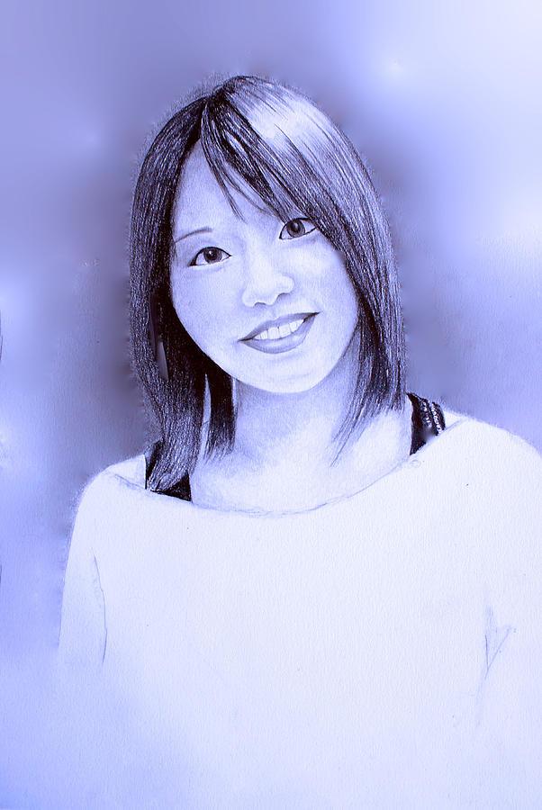 602x900 Portrait Of A Japanese Girl Digital Art By Tim Ernst