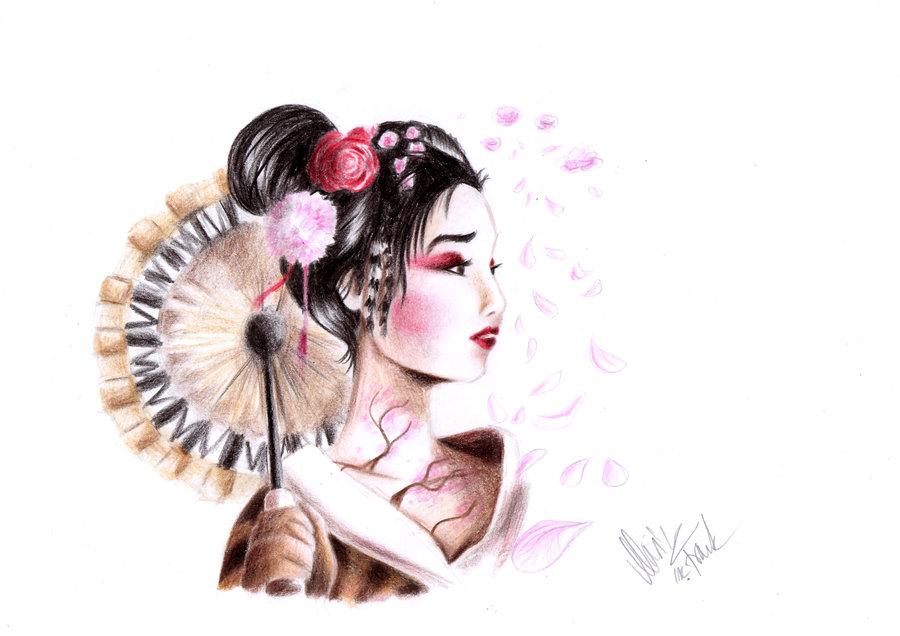 900x636 Tattoo Japanese Girl By Yunakidraw