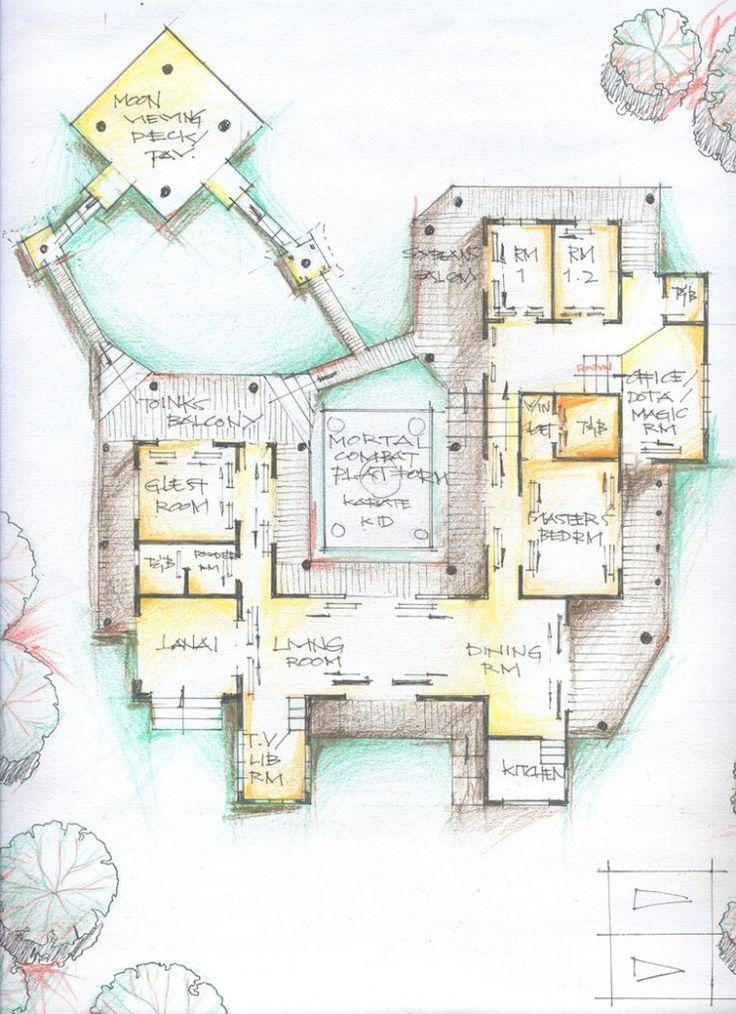 736x1014 Amazing Traditional Japanese House Floor Plan Design Idea Beach