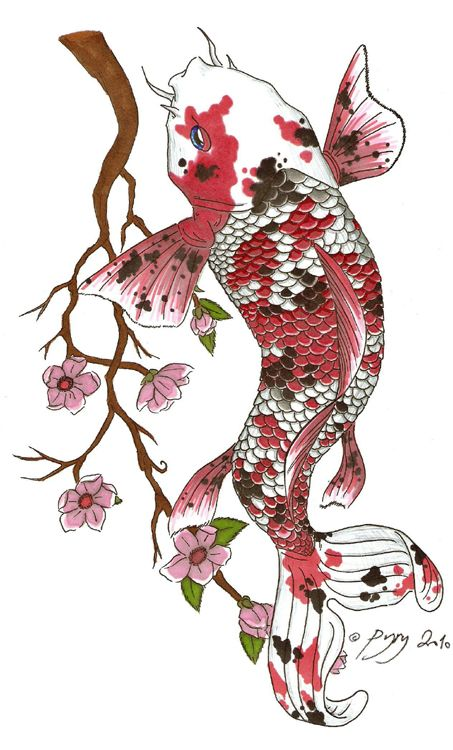 453x750 110 Best Japanese Koi Fish Tattoo Designs And Drawings