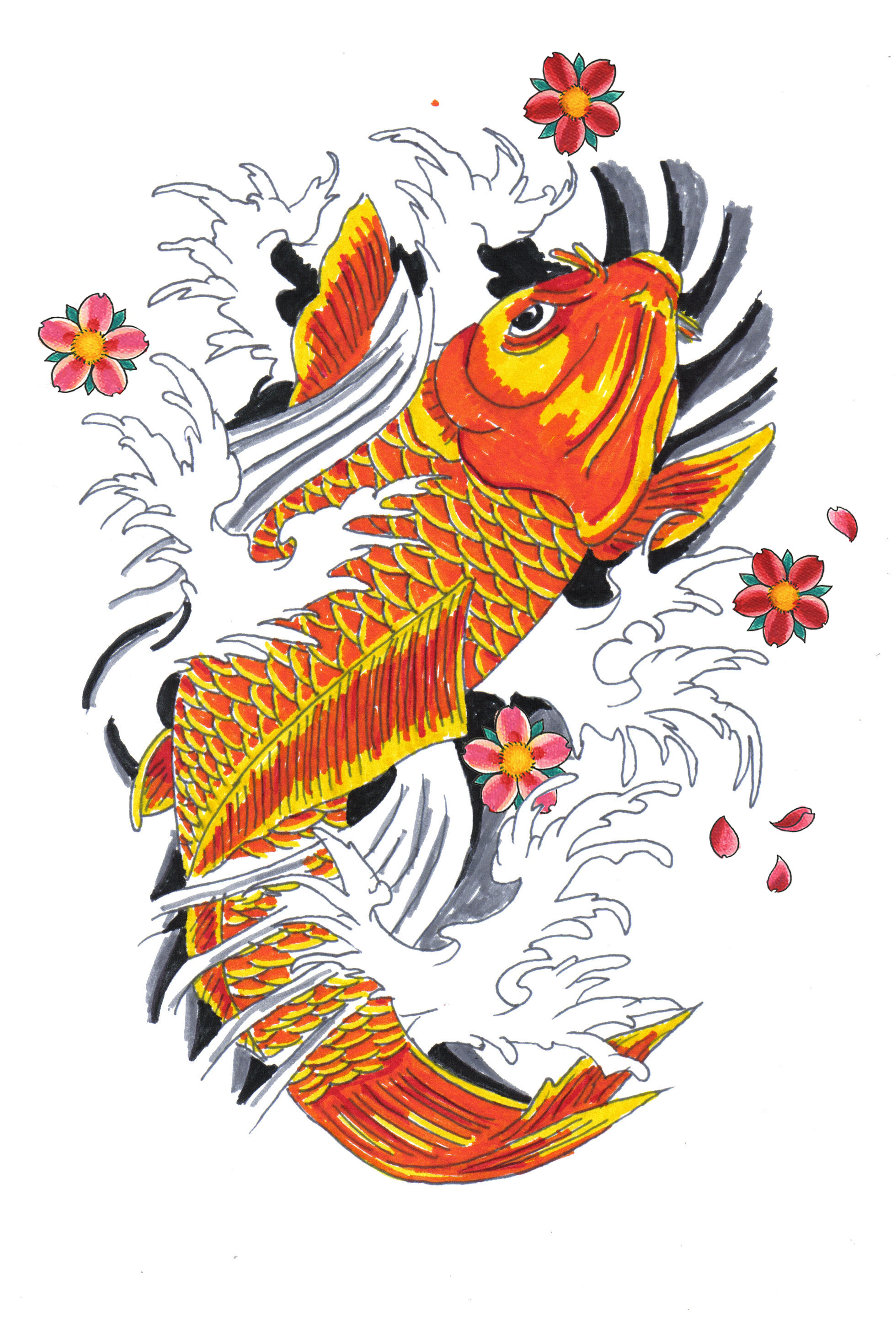 1960x2894 Japanese Koi Fish Drawings Koi Fish Tattoo Drawings Koi
