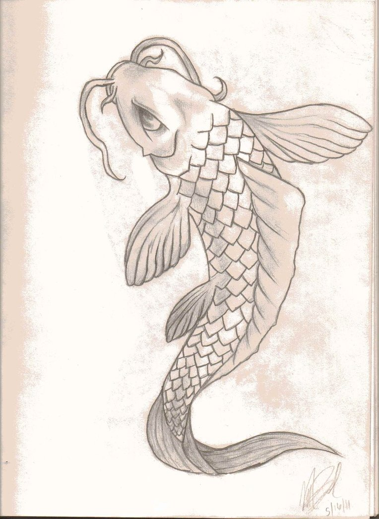 764x1046 Koi Fish By Omgzombieunicorns