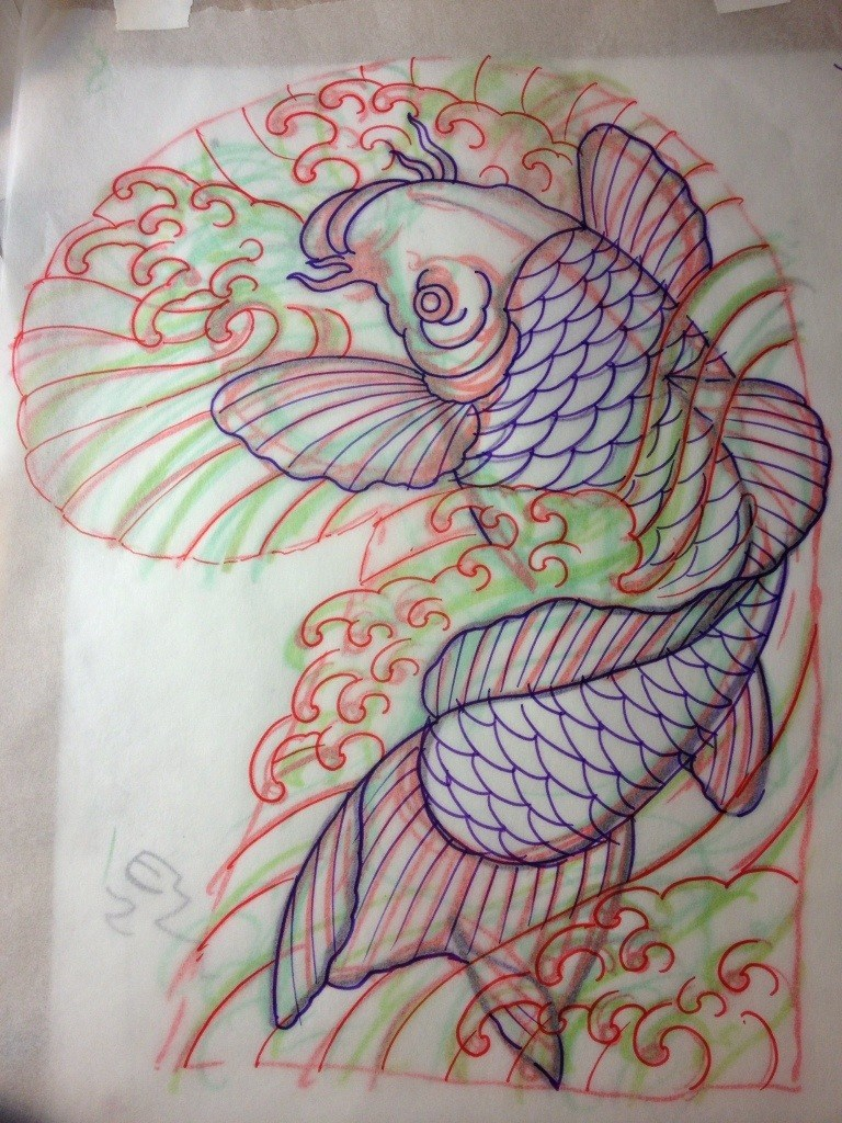 768x1024 Koi Fish Shaun Nel Shaun The African Art And Tattoos