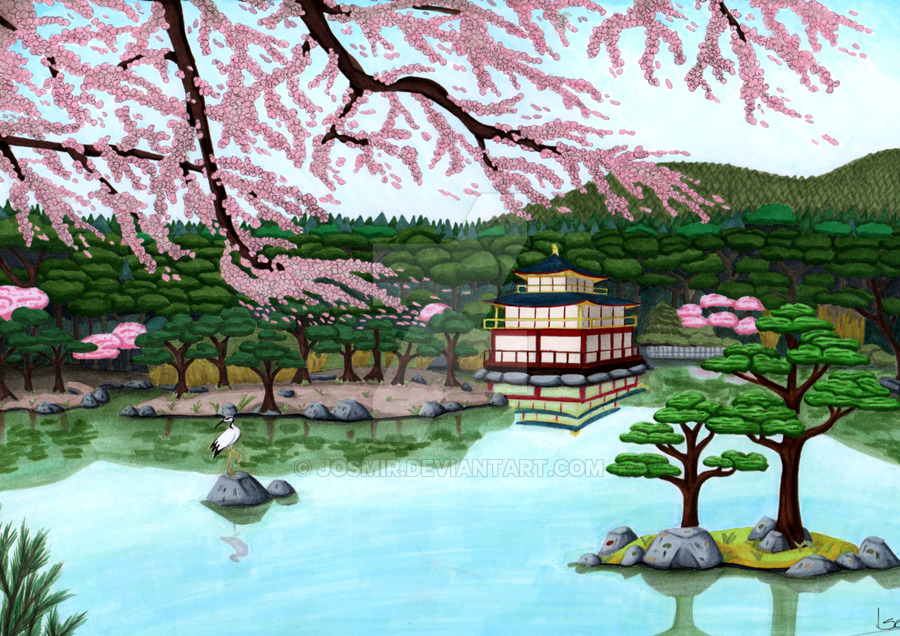 900x636 Japanese Landscape By Josmir