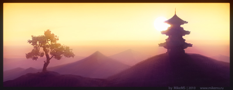 800x311 Japanese Landscape By Mikems