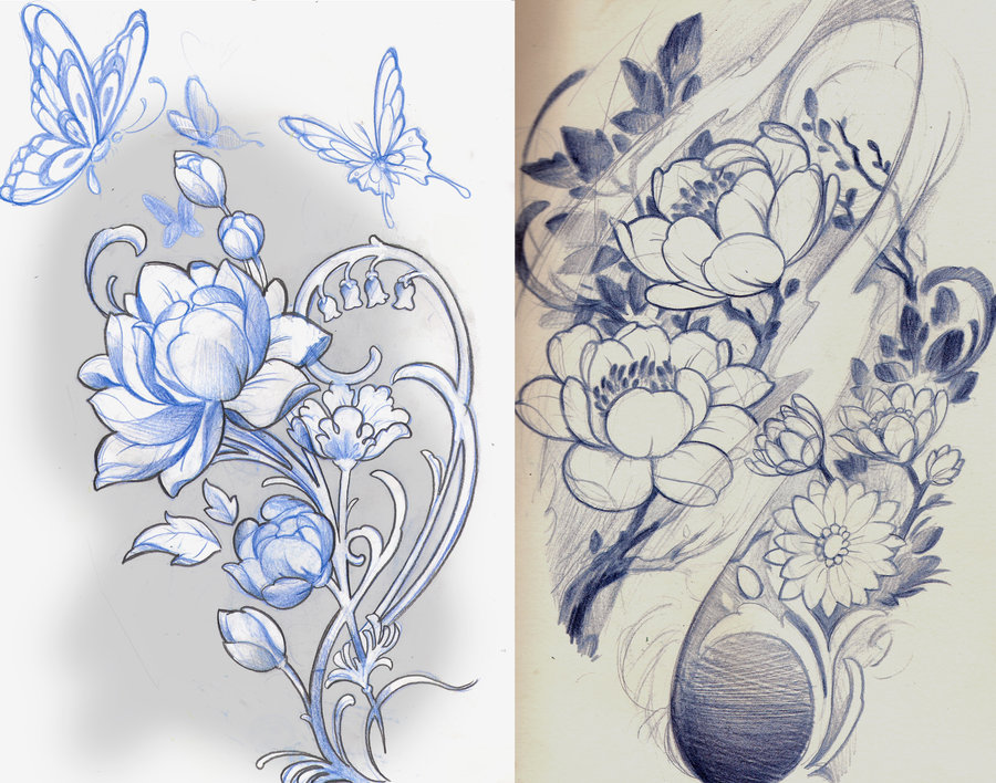 Traditional Flower Line Drawing : Japanese lotus drawing at getdrawings.com free for personal use