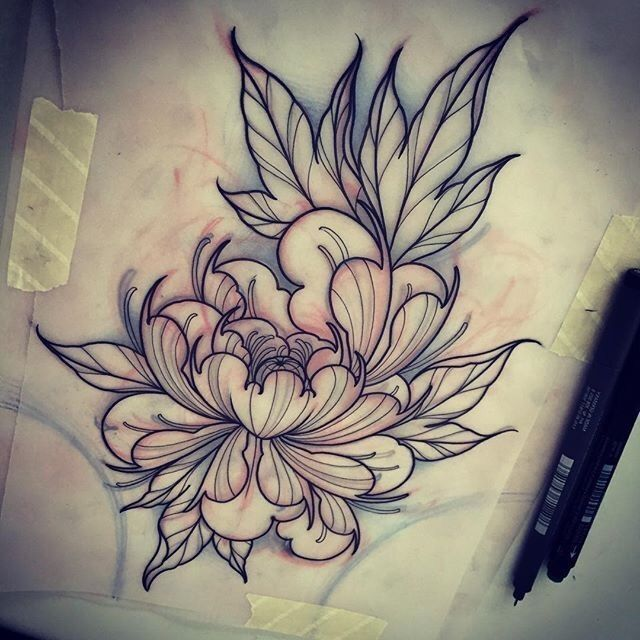 640x640 Pin By Valery Bon On Drawing Flower Peony, Tattoo