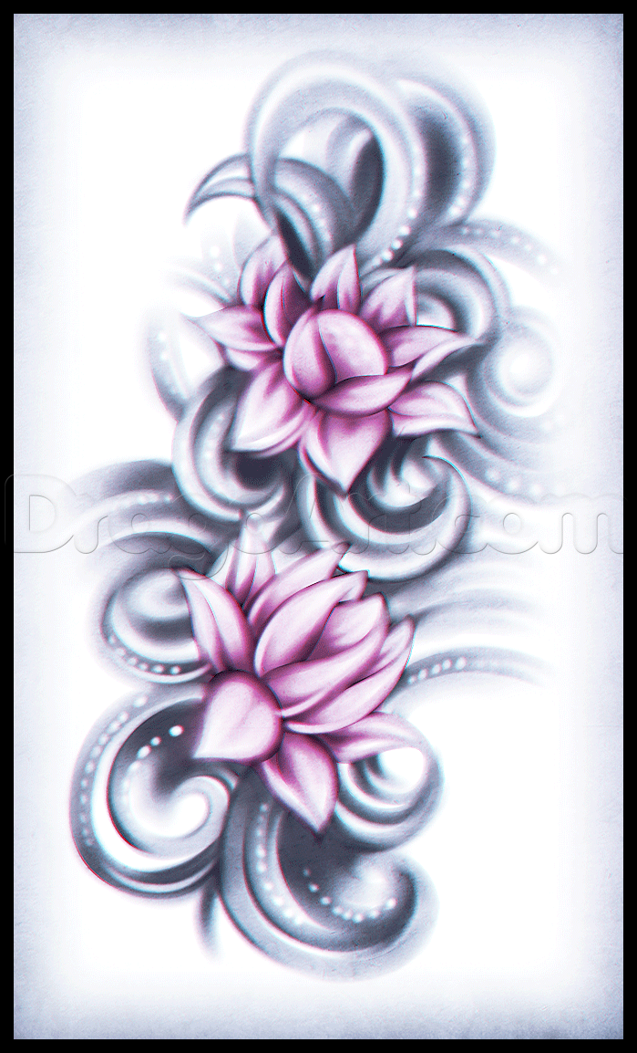 699x1154 How To Draw A Lotus Flower Tattoo Drawing Amp Art