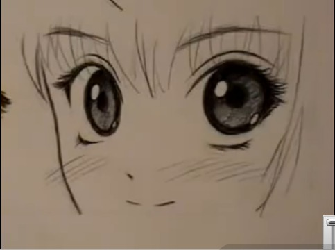 483x360 How To Draw Manga Eyes (Two Ways) 7 Steps