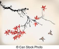 230x194 Japanese Maple Tree Vector Clip Art Illustrations. 122 Japanese