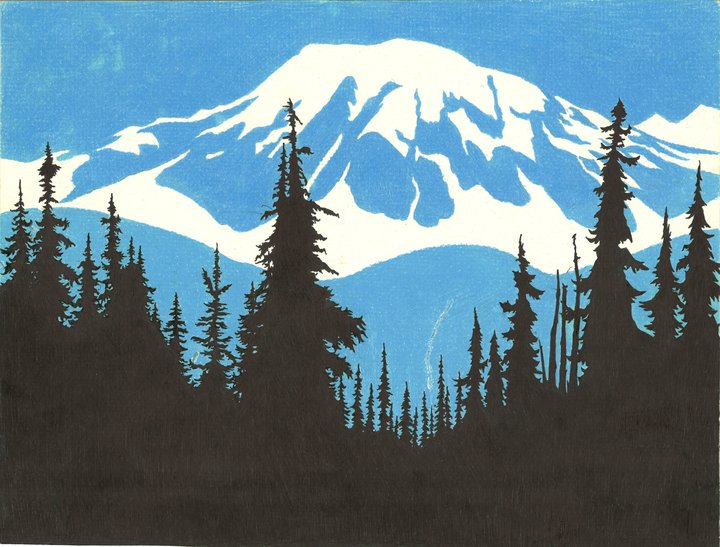 720x547 Mountain Drawing