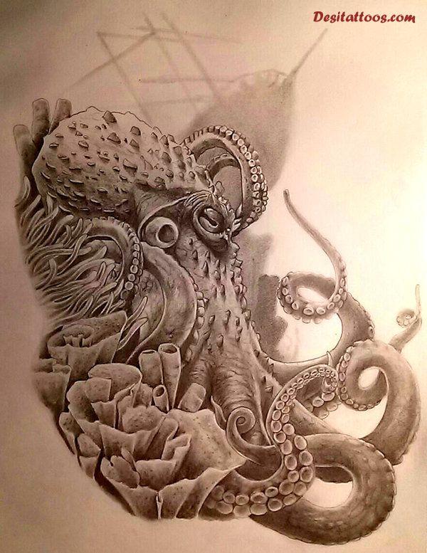 600x777 Japanese Octopus Tattoo Design Octopus Tattoo Japanese
