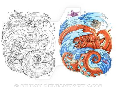 400x300 Wave Octopus By Mu63n