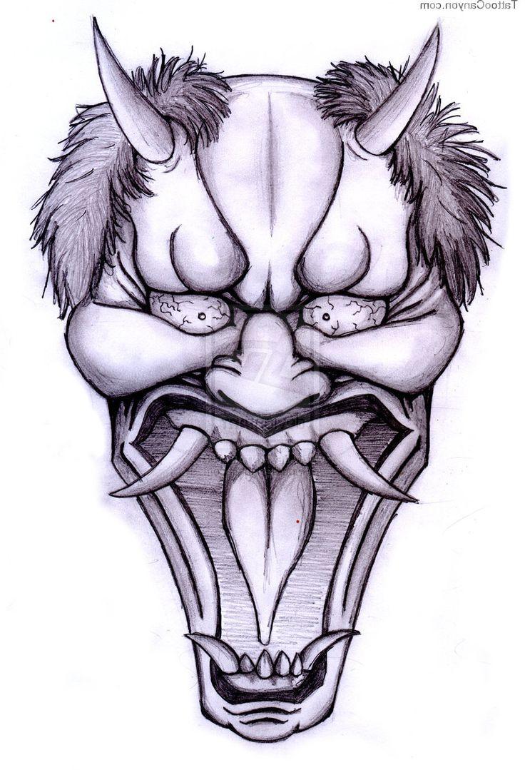 736x1079 Japanese Demon Mask Tattoos Ideas About Hannya Mask Tattoo