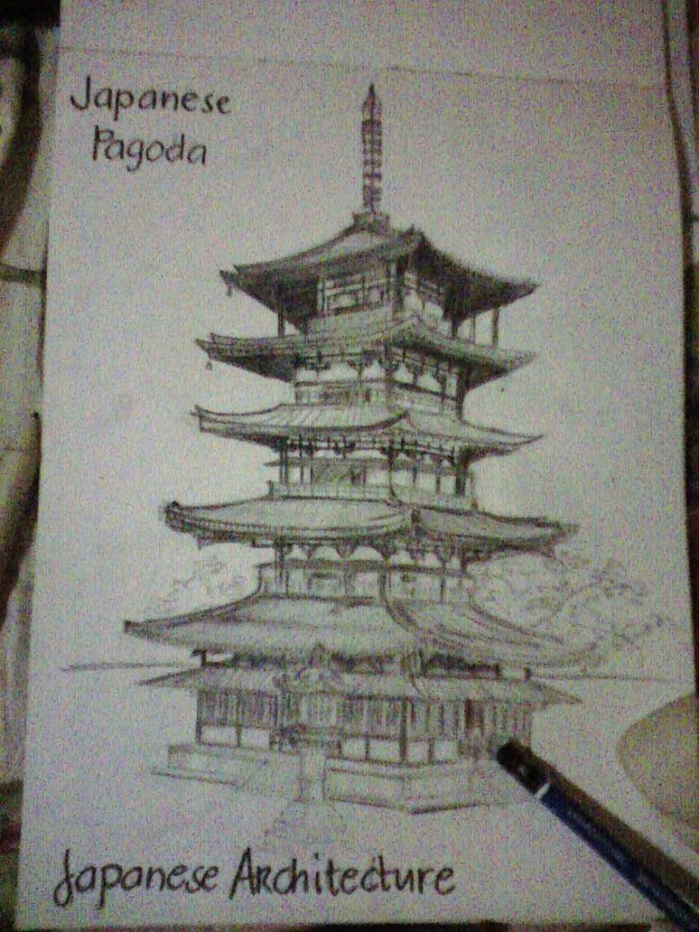 774x1032 Japanese Pagoda By Enialeloves