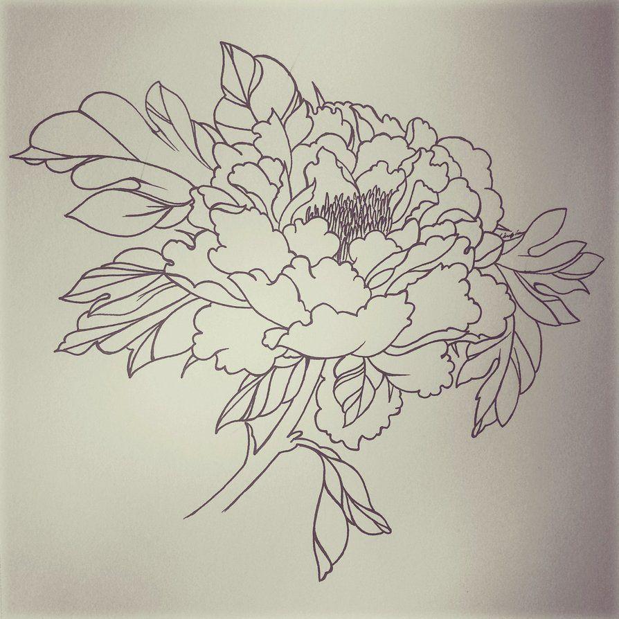 894x894 Peony Tattoo By Dampdonuts Tattoos And Art Peonies