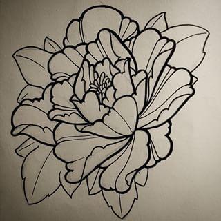 320x320 Peony Drawing Lines Tattoos Peony, Drawings And Tattoo
