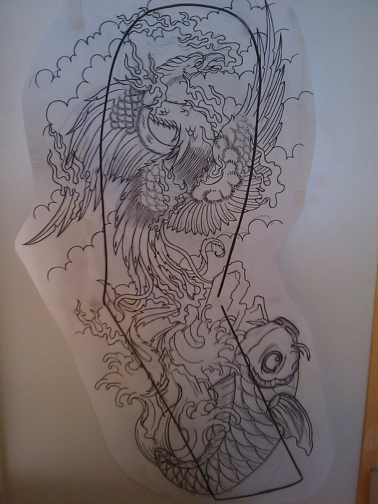 774x1032 Japanese Phoenix Full Sleeve By Dude Skinz Tattooing