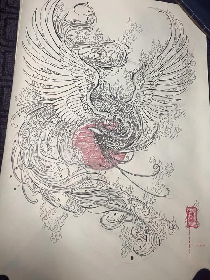 720x960 Phoenix Tattoo Koi Tattoo Phoenix, Tattoo And Tattoo