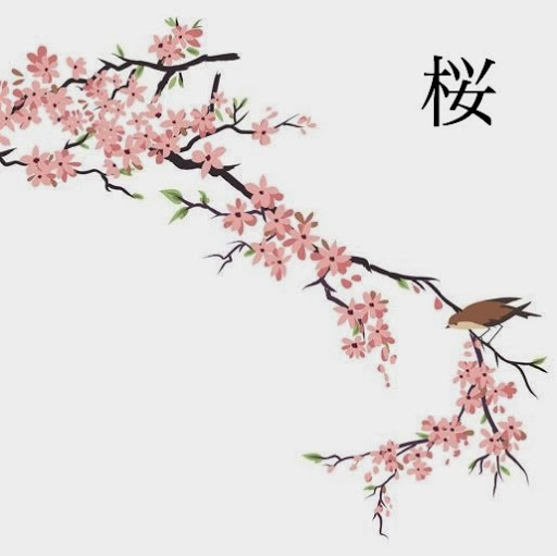 512x511 Sakura Tree Drawing