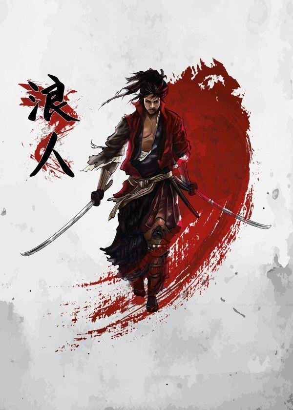 600x840 Ronin Samurai By Cornel Vlad Samurai, Tattoo And Tattoo