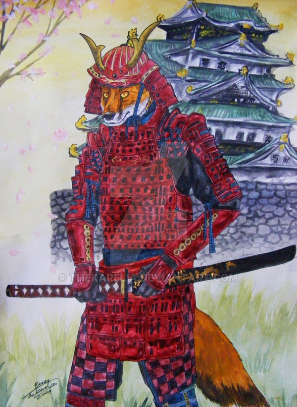 600x821 Samurai Fox By Thekarelia