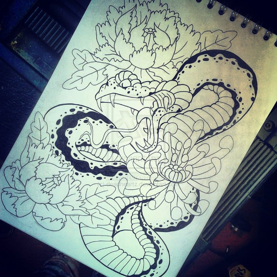 894x894 Traditional Japanese Snake Tattoo Designs Japanese Snake By