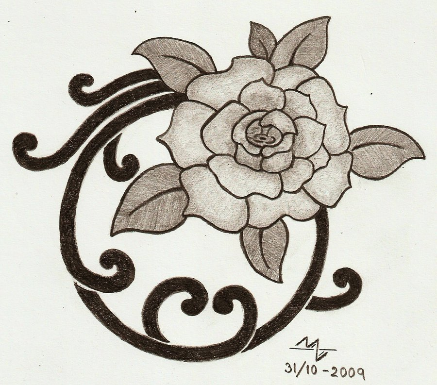 900x793 Rose Japanese Style 1 By Groundhog1988