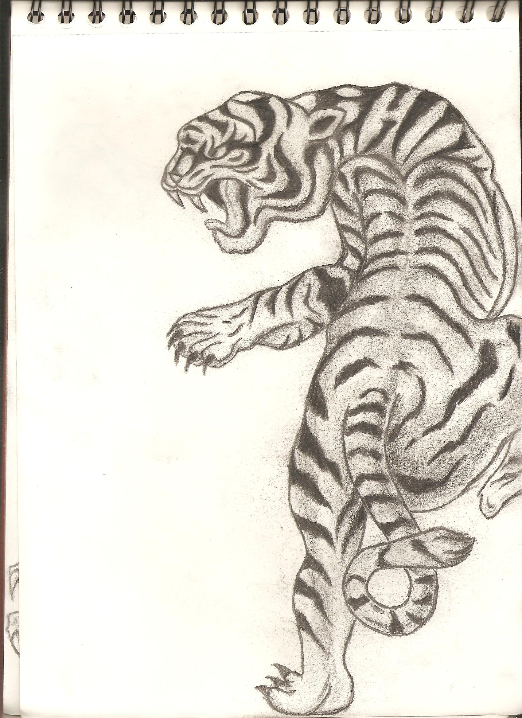 1700x2338 Tiger Art Classic Japanese Style Tiger Japanese Tiger Tattoo