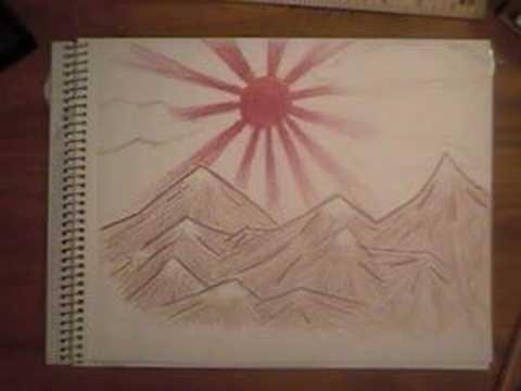 480x360 Speed Drawing The Rising Sun