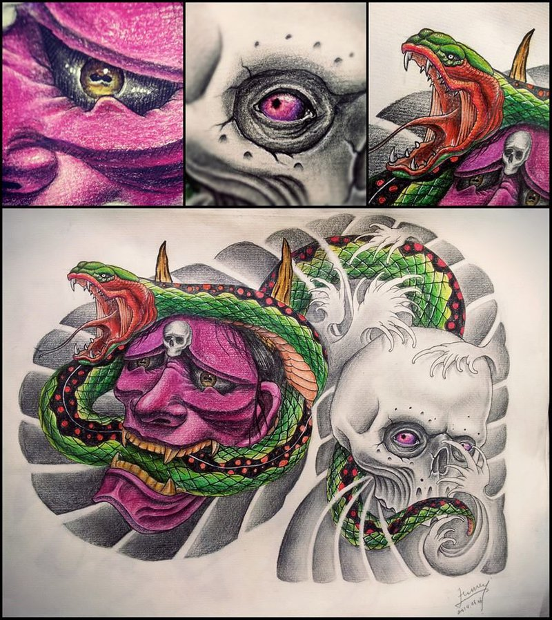 800x897 Japanese Half Chest Tattoo Design By Uuu123447