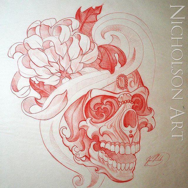 640x640 This Custom Japanese Tattoo Design Is Up For Grabs,tibetan Skull