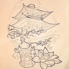 236x236 Famous Japanese Temples Drawings