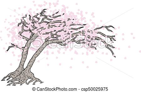 450x294 Creative Design Of Japanese Tree Vectors Illustration