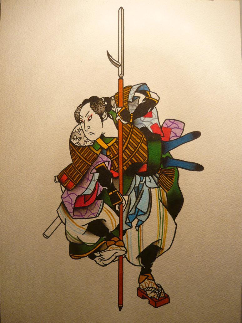 774x1032 Japanese Warrior By Sandravaleriez
