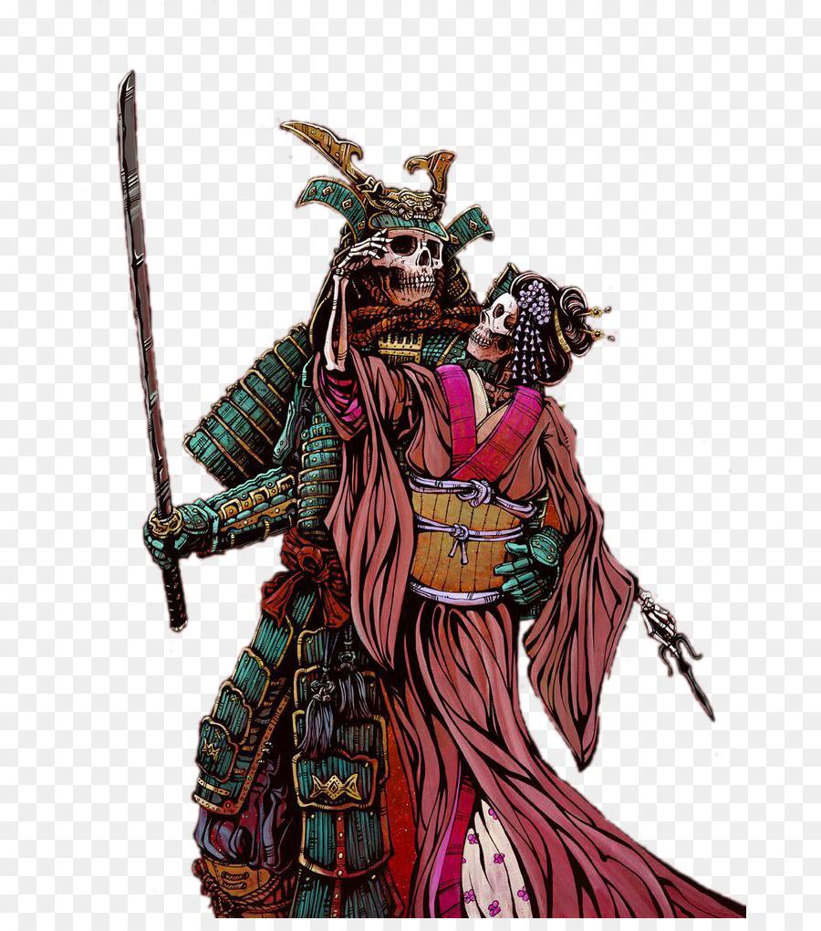 900x1020 Samurai Drawing Skeleton Warrior Onna Bugeisha