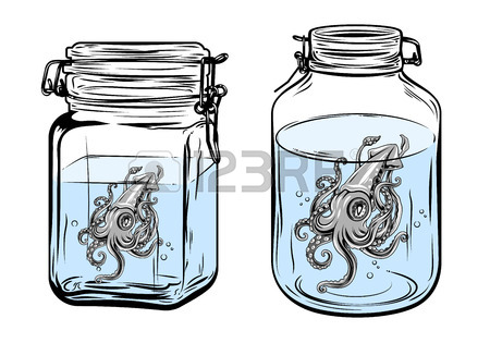 450x315 Butterfly In A Glass Jar, Freehand Drawing Royalty Free Cliparts