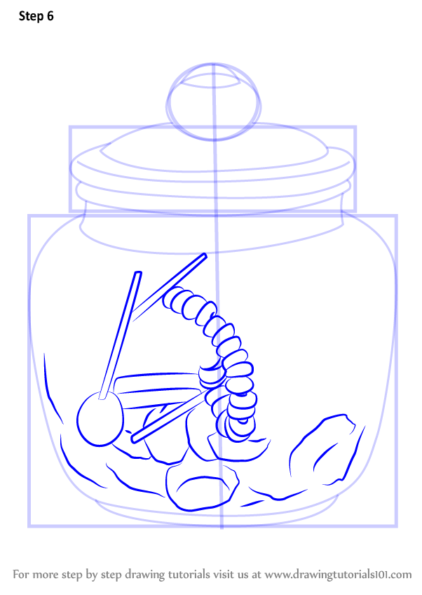 602x848 Step By Step How To Draw A Candy Jar