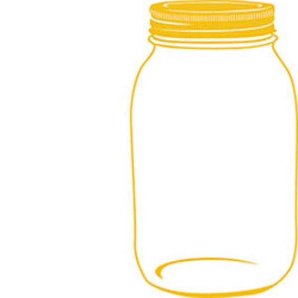 600x600 Yellow Mason Jar Free Images