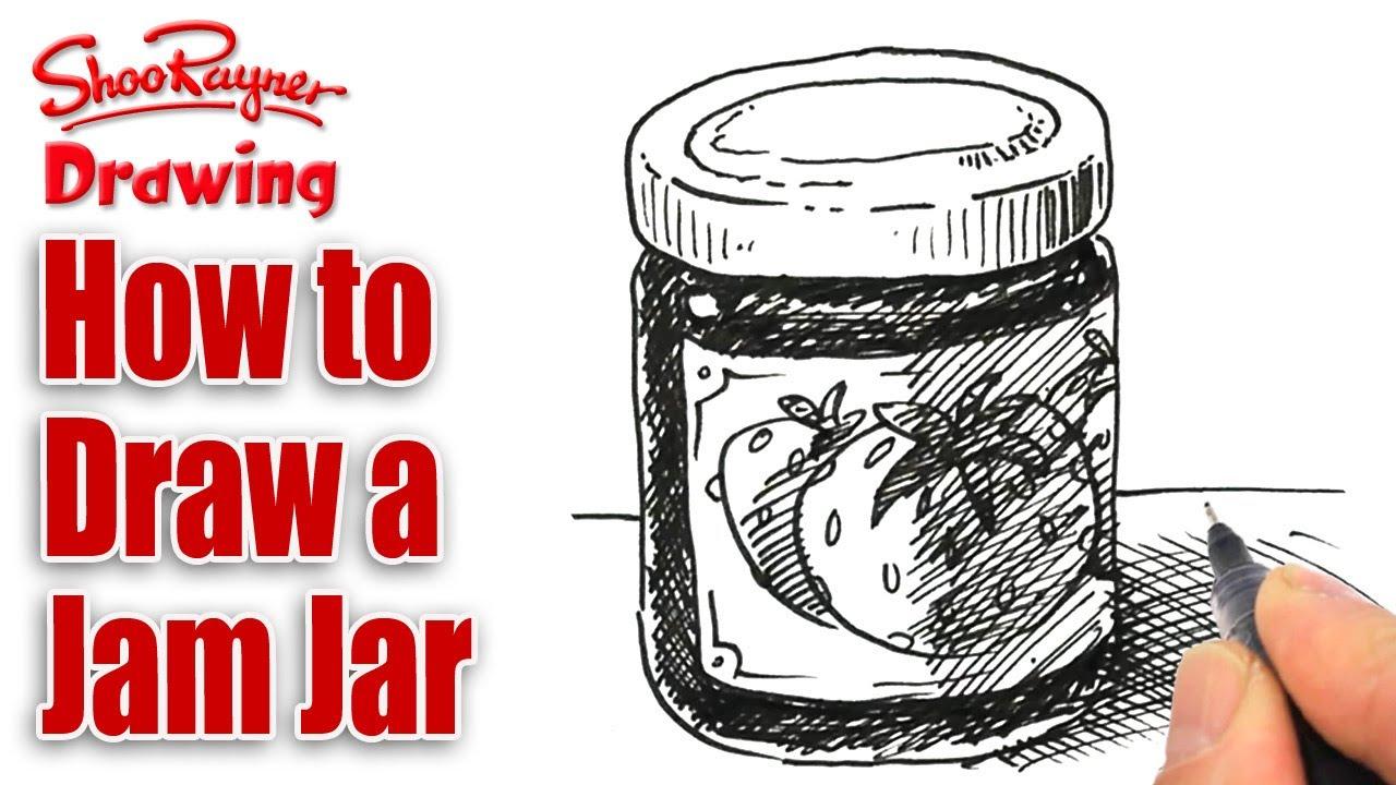 1280x720 How To Draw A Jam Jar